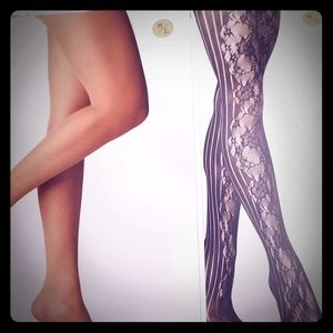 Two Pairs Tights Hosiery A New Day M/L